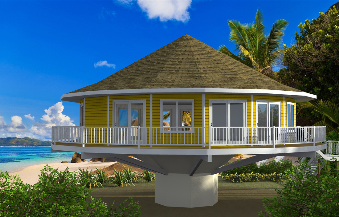 Home plans on stilts for Modular beach homes on pilings