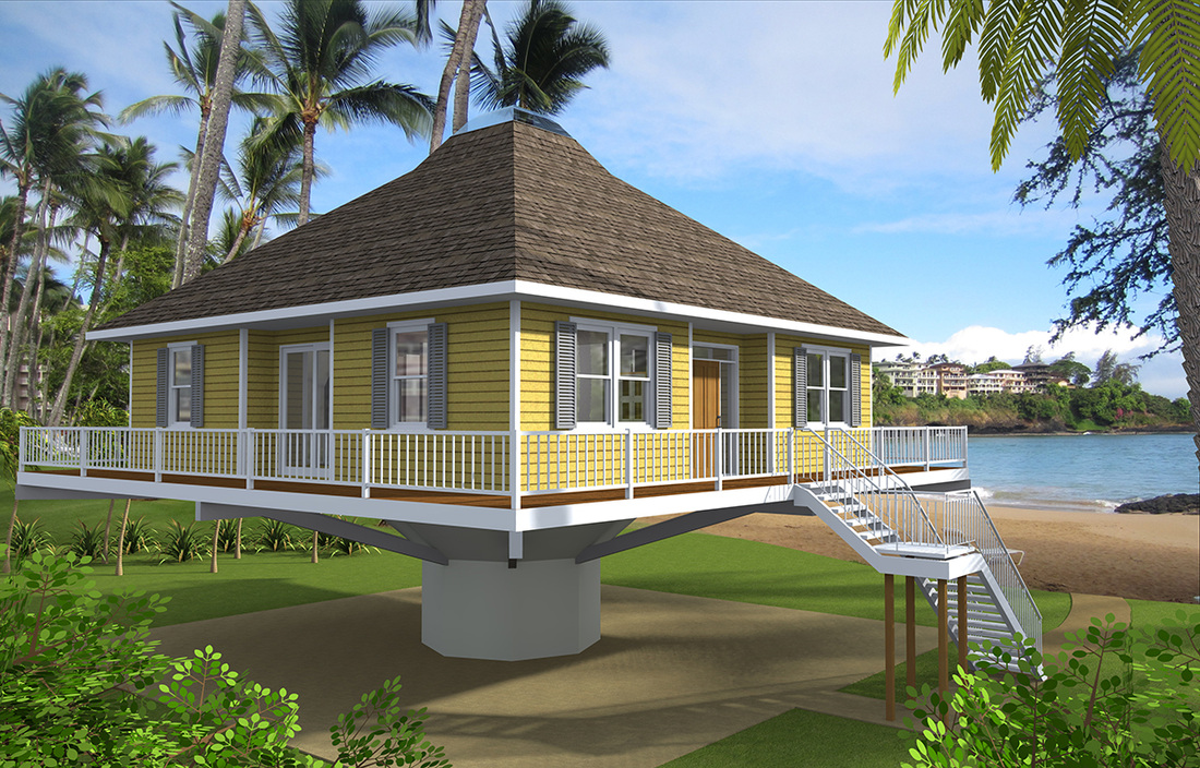Home plans built on pilings for Piling home plans
