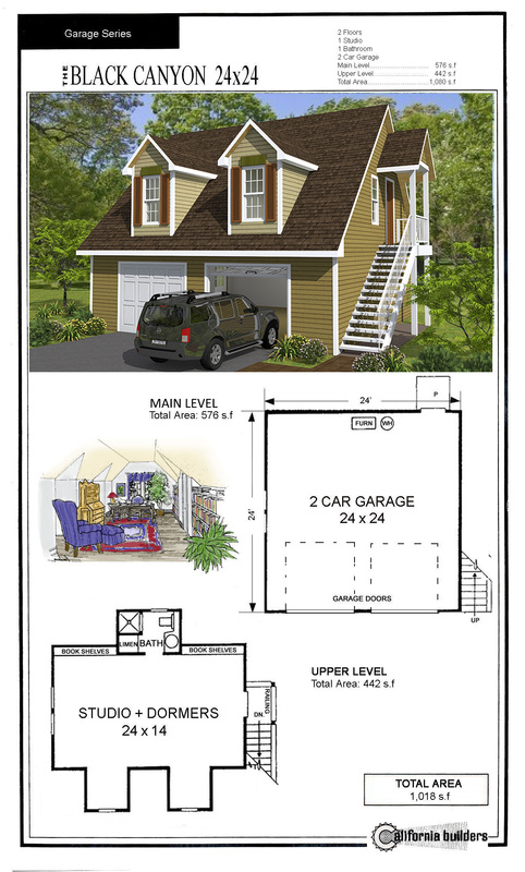 Carriage houses cbi kit homes 24x24 house plans