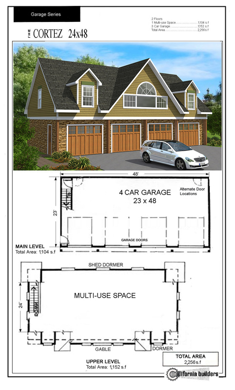 Carriage houses for 28x28 cabin plans