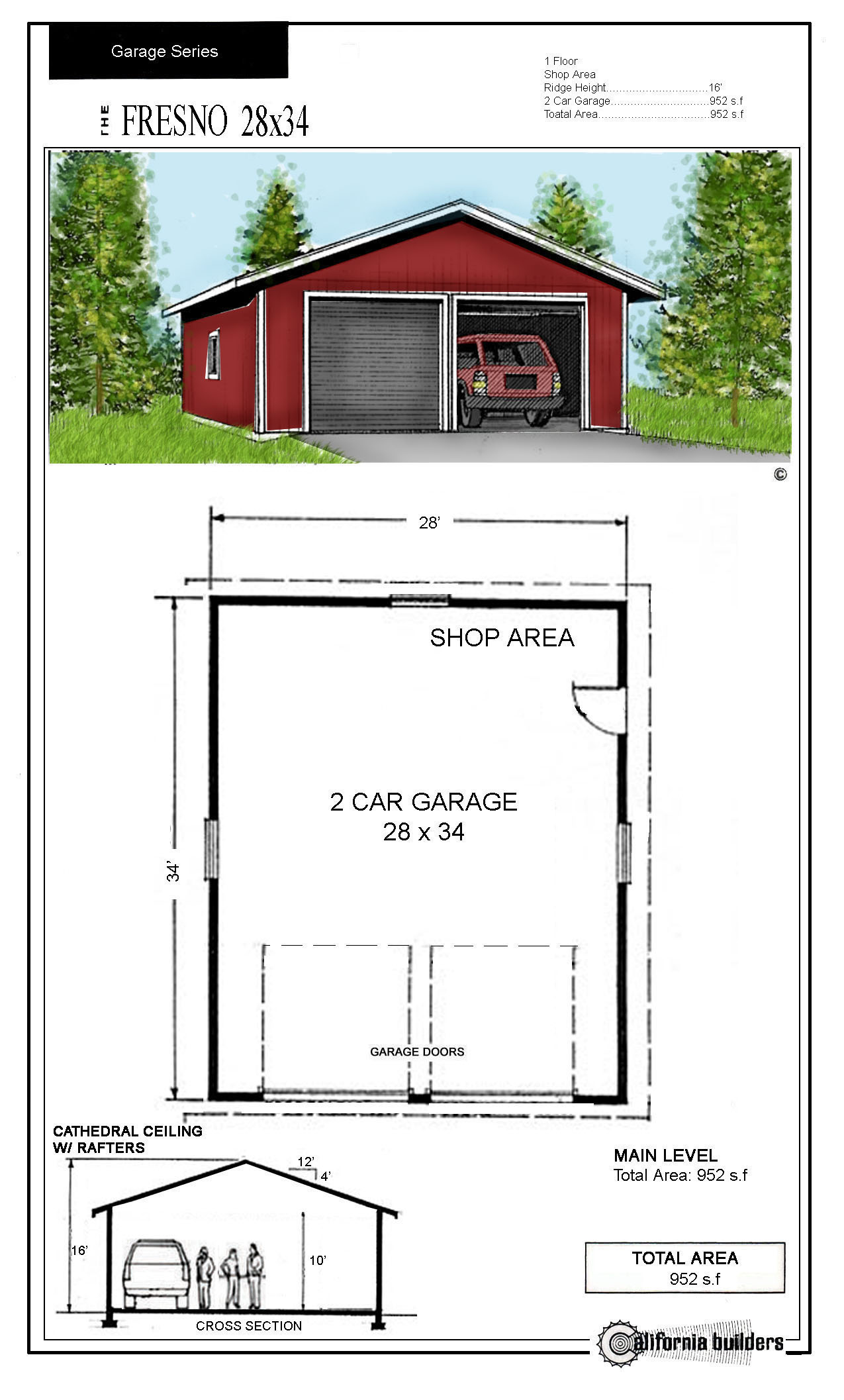 24x32 garage kit joy studio design gallery best design Garage with studio plans