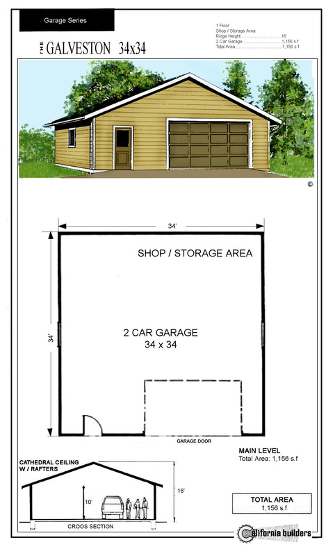 Garage Kits CBI Kit Homes – 28X32 Garage Plans